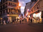 A \'night on the town\' in Lourdes. Lourdes is not known for its exicting nightlife!